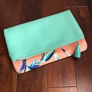 RACHEL PALLY Reversible Clutch Aqua Purse Bag